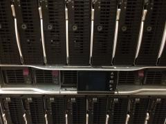 HP c7000 enclosure with 16x BL490c G6 E5540 507072-002 32 x 128 gb